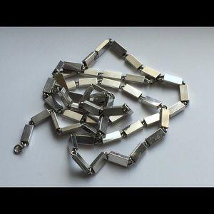 Vintage Monet Silver tone Baht Chain